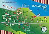 Hotel Club Aliga Balatonvilagos - the map of the holiday complex helps the orientation of the guests